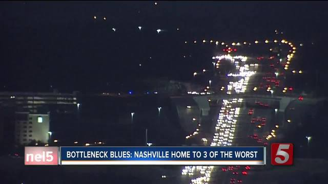 Nashville Home to 3 of 50 Worst Bottlenecks in the Nation